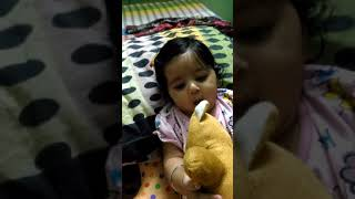 Ekam playing wit soft toys