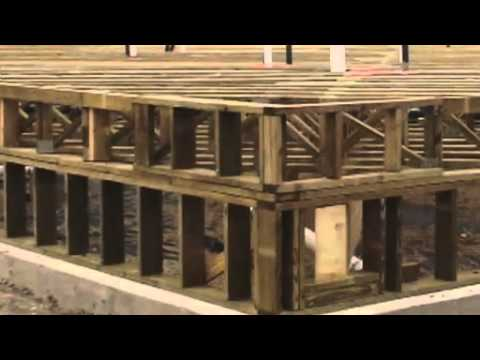 How to build a quality closed crawl space youtube for Wood crawl space foundation