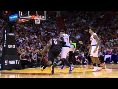 LeBron's masked return: 31 pts, 4 ast vs Knicks | Full Highlights | 27 Feb 2014