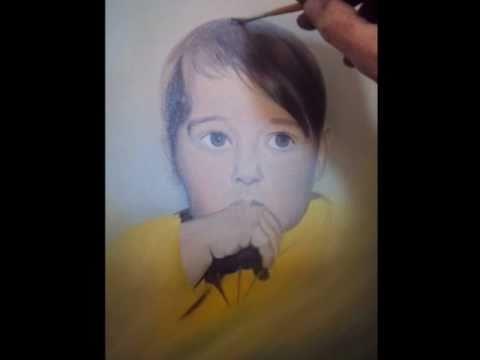 Como pintar um rosto de menino leo sobre tela youtube - Como pintar sobre tela ...
