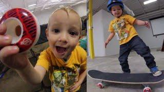 Two Year Old Skateboard Setup! - Ryden Schrock
