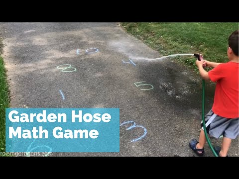 Water Hose Math Game fun kids outdoor summer activity