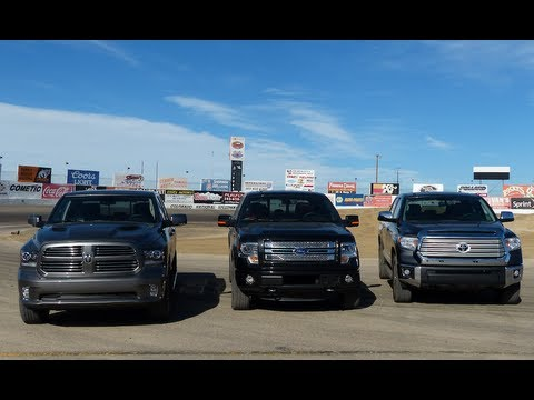 2014 Ram 2500 HD Vs Ford F-250 Vs Chevy Silverado 2500 0-60 MPH Mashup