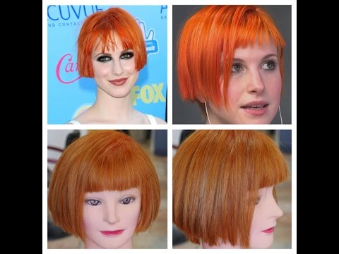 Hayley Williams Haircolor & Haircut Tutorial