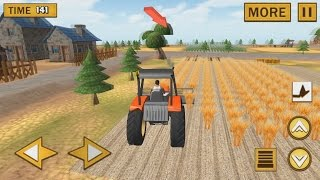 Фермер Сбор Урожая Мультик для Детей про Работу Трактора и Комбайна