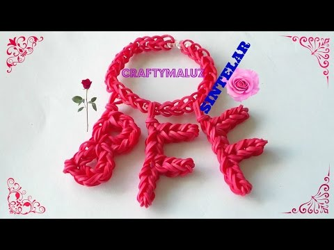 TUTORIAL: TUTORIAL COMO HACER PULSERA (BFF) DE GOMITAS SINTELAR/ HOW TO MAKE THE (BFF) CHARM- How To