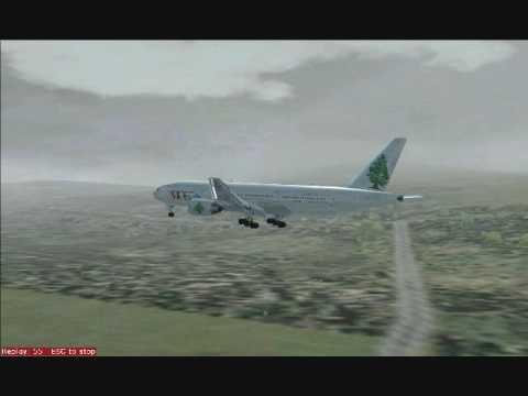 Landing MEA Boeing 777-300 in Beirut