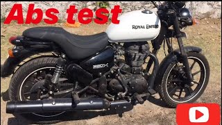 abs test | royal enfield thunderbird 350x | abs | bullet | bs4 | review