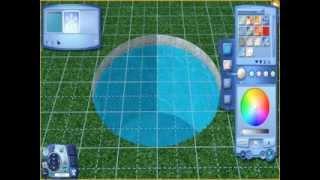 Симс 4 как сделать круглый бассейн