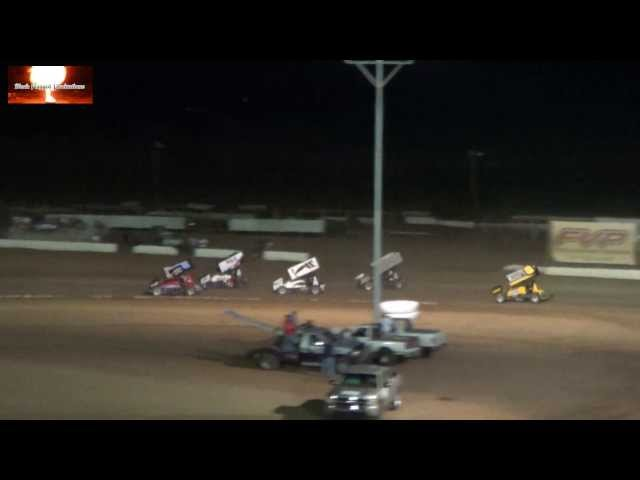 The ASCS Wing Sprint Car Highlight Reel From Canyon Speedway Park Aug 17th 2013