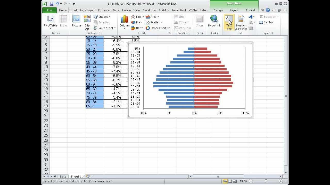 Excel 2010 - Como fazer uma pirâmide etária em Excel - YouTube