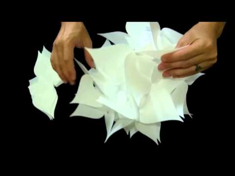 How to make a 30 piece Jasmine Flower Petals Lampshade - Smarty Lamps Video