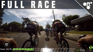 FULL 75 MIN CRITERIUM RACE W/COMMENTARY (INDOOR CYCLING VIDEO)