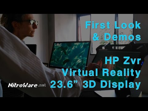 HP Zvr 3D Virtual Reality zSpace Monitor First Look and Hands-On Demos