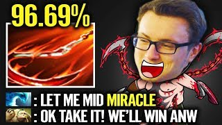 Miracle- Fast game 15 mins GGWP - God Pudge Destroy Top lane Dota 2 gameplay