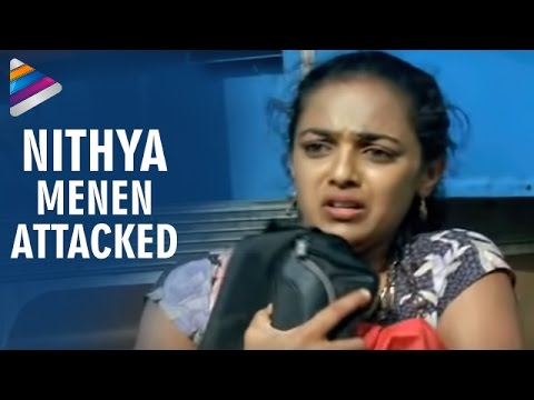 Goons trying to rape Nitya Menon - Nithya Movie Scenes - Revathi...