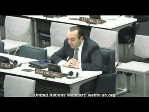 Syria:  Syrian Arab Republic - 67th General Assembly - May 8, 2013