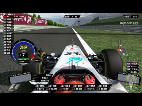F1 2011 Onboard Suzuka Race DRS and KERS IN Use : Eder Belone