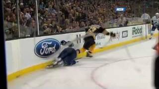 Brad Marchand hit on Sami Salo Suspended 5 games 1/7/12