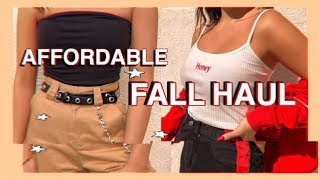 TRENDY AFFORDABLE FALL TRY-ON CLOTHING HAUL 2018| LUPSONA HAUL