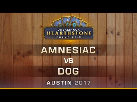 HS - Amnesiac vs Dog - RO16 - Hearthstone Grand Prix DreamHack Austin 2017