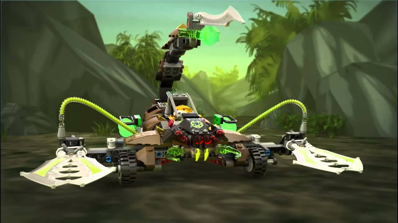 Lego chima 70132 scorms scorpion stinger lego 3d review youtube - Lego chima a colorier ...