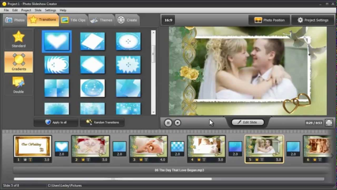 How to Make a Professional Wedding Slideshow - YouTube