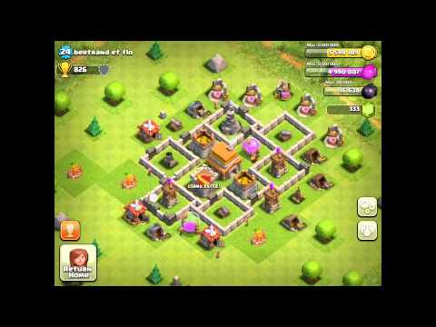 BEST Defense Base For Town Hall Level 5 - Clash Of Clans Defense Strategy