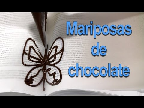 Mariposas de chocolate para cupcakes o tartas
