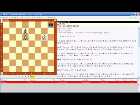 Practicar finales de ajedrez con el Visor. Tutorial 4