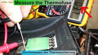 Golf 4 IV MK4 blower Heizung Gebläse Thermosicherung austauschen replacement Thermal Fuse