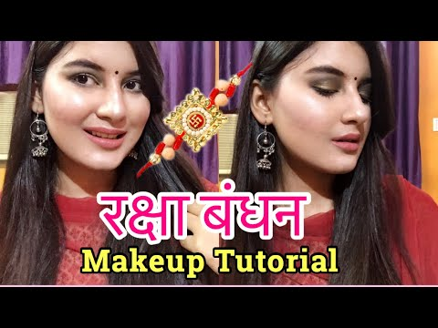 How to do Raksha Bandhan Makeup Step by Step for Beginners at home in Hindi | Nukhrewali