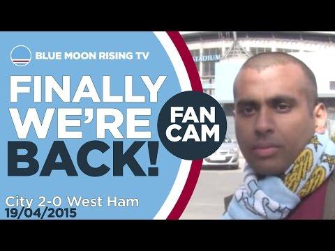FINALLY WE'RE BACK! | Manchester City 2-0 West Ham - Goals: Collins, Aguero | FAN CAM