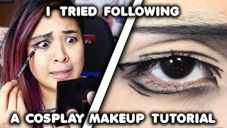 I Tried Following a Cosplay Makeup Tutorial...