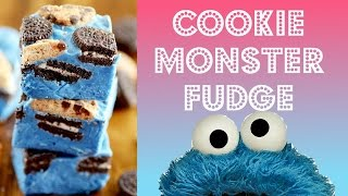 30 Minute COOKIE MONSTER FUDGE  ツ