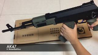 Automatic electronic water ball toy gun AK47 in Russia style with fast replace magazine