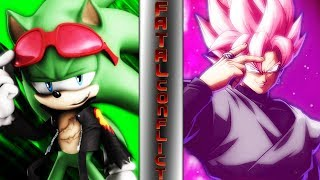 SCOURGE THE HEDGEHOG vs GOKU BLACK! (Archie Sonic vs Dragon Ball Super) | ⚠️ FATAL CONFLICT ⚠️