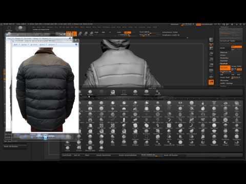 Моделирование одежды в zbrush
