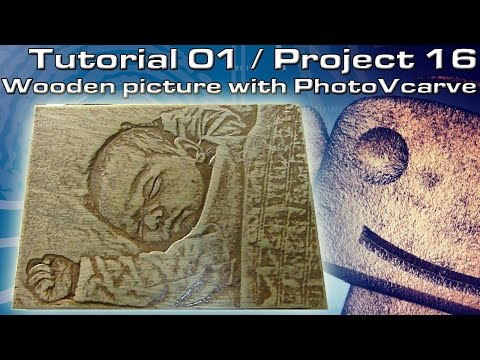 RoboCNC Tutorial 001 : Make  a wooden picture with PhotoVcarve.