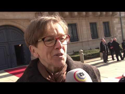François Hollande à Luxembourg
