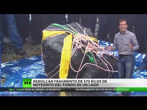 Extraen de un lago el fragmento más grande del meteorito de Cheliábinsk