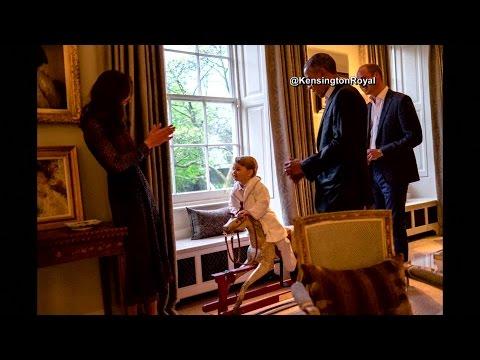 Prince George dons pajamas to meet Obamas