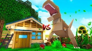 Minecraft - DINOSAURS VS BASE CHALLENGE! (T-REX vs BASE)