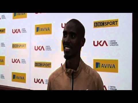 Aviva 2012 Trials - Mo Farah 1500m Mens Heat 1