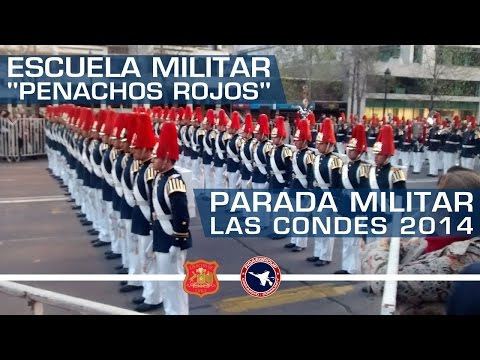 PENACHOS ROJOS - ESCUELA MILITAR - PARADA MILITAR LAS CONDES 2014