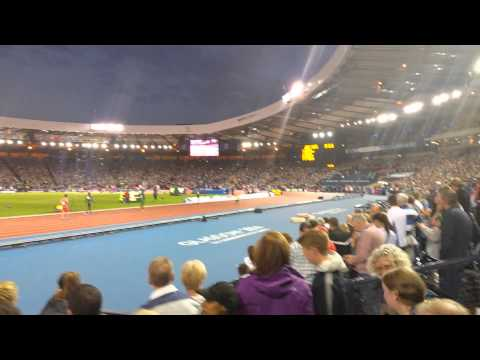 Usain Bolt 4 x 100m relay Heat Commonwealth Games Glasgow 2014
