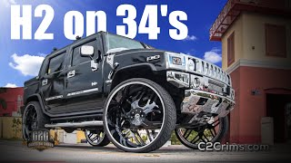 Hummer H2 on 34s FORGIATOs