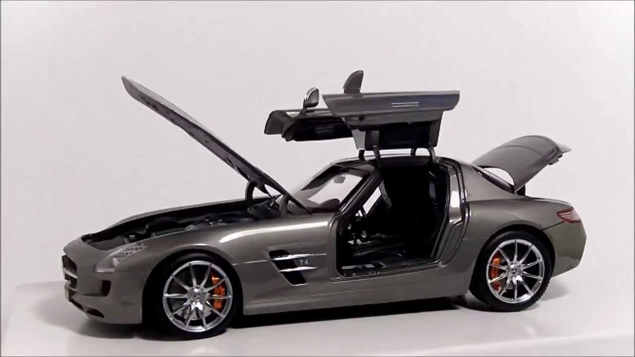 welly gt autos 1 18 mercedes benz sls amg c197 youtube. Black Bedroom Furniture Sets. Home Design Ideas