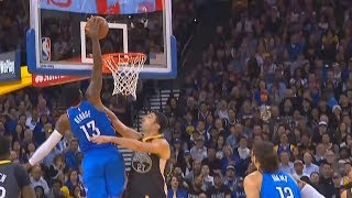 Paul George DUNKS ON ZAZA PACHULIA GETS THE AND-1 VS WARRIORS! Warriors vs OKC thunder
