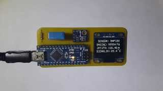 Arduino ~ BMP180 Barometric Pressure and I²C OLED Display